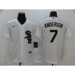Chicago White Sox Tim Anderson White Jersey
